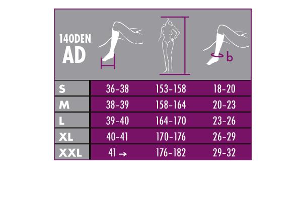 Κάλτσα MAXIS-RELAX 140 DEN AD