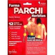 Το θερμικό έμπλαστρο Farma Parchi, ανακουφίζει αποτελεσματικά από τον πόνο, τους πιασμένους μύες και τις κράμπες χάρη στην ευεργετική θερμότητα που διαχέει, διάρκειας 10 - 12 ωρών.