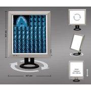 Επιτραπέζιο διαφανοσκόπιο μονό Weiko SLIM LED