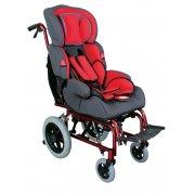 Αναπηρικό αμαξίδιο παιδικό αλουμινίου. Δυνατότητα ρύθμισης κλίσης της πλάτης & της βάσης.